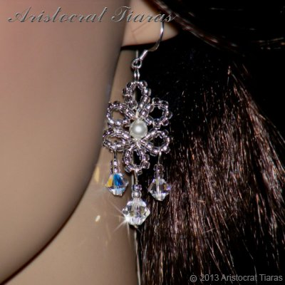 Princess Esme handmade Swarovski earrings picture 2