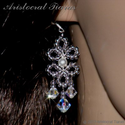 Princess Esme handmade Swarovski earrings picture 3