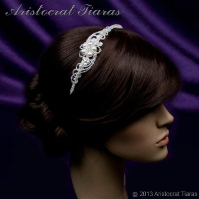 Princess Laura floral Swarovski bridal headband picture 10