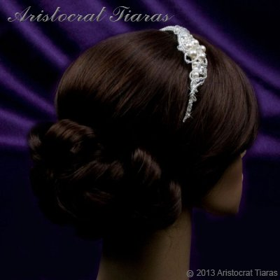 Princess Laura floral Swarovski bridal headband picture 12