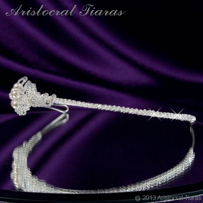 Princess Laura floral Swarovski bridal headband picture 4