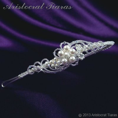 Princess Laura floral Swarovski bridal headband picture 5