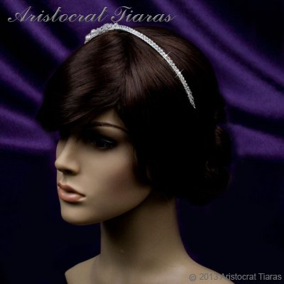 Princess Laura floral Swarovski bridal headband picture 8