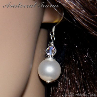 Princess Roza handmade Swarovski pearl 925 earrings picture 2