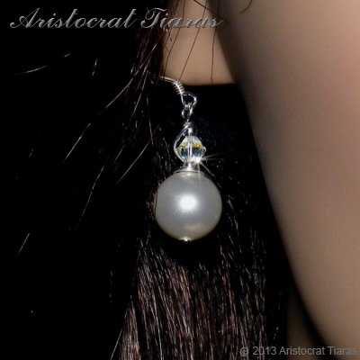 Princess Roza handmade Swarovski pearl 925 earrings picture 3