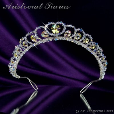 Princess Sophie handmade Swarovski wedding tiara - click for supersize image
