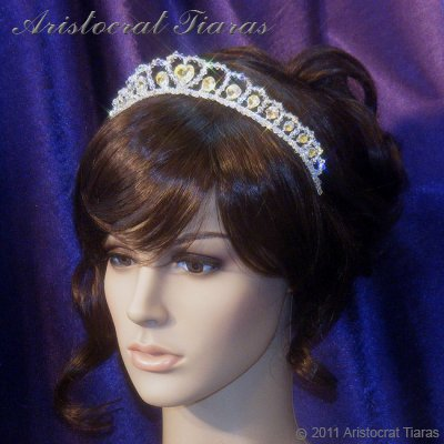 Princess Sophie handmade Swarovski wedding tiara picture 10