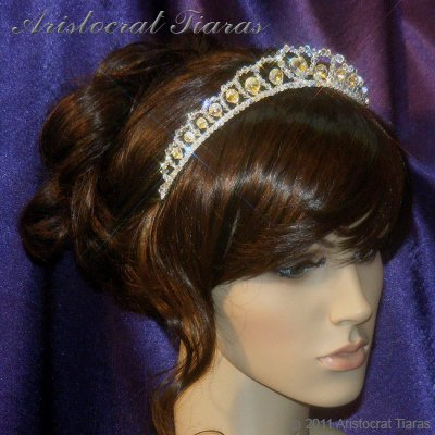 Princess Sophie handmade Swarovski wedding tiara picture 12